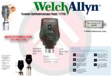 Welch Allyn 3.5 V AutoStep® Coaxial Ophthalmoscope Head, 11730