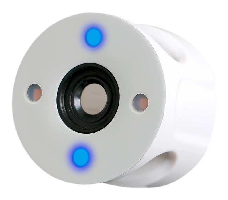 White and Blue Illumination