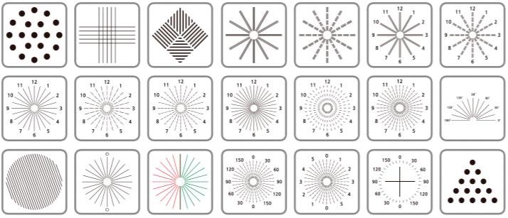 Various astigmatism charts