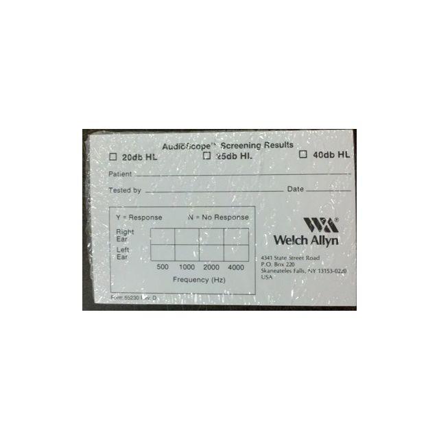 AudioScope 3 Recording Form (box of 1,000)