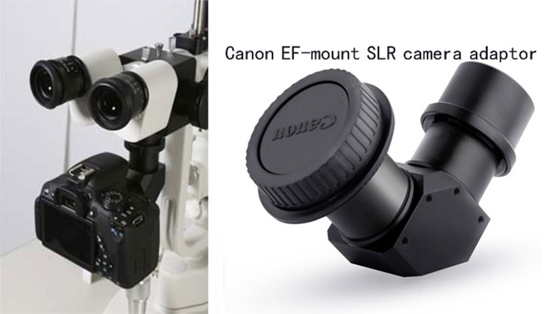 Canon EF-mount SLR camera adaptor for Slit Lamp