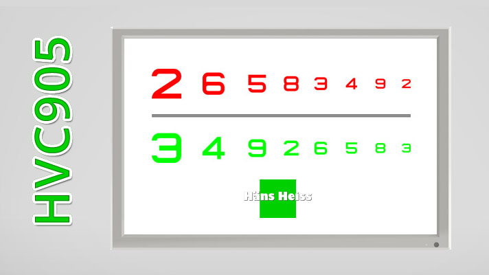 Vision Chart LCD HANS HEISS 24