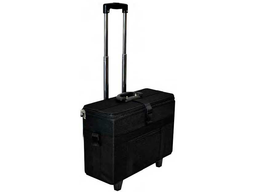 AC-512 Compact Eyewear Carrying Bag w/ Retractable Handle on Wheels