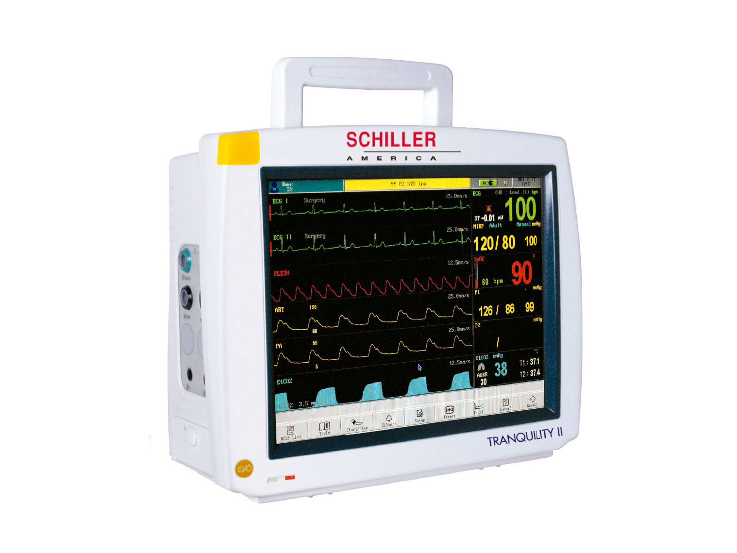 """TRANQUILITY II 12.1"""" color TFT display Touch Screen Patient Monitors"""