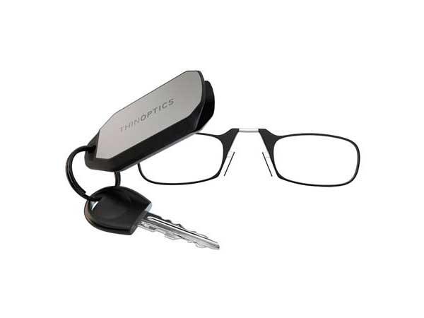 ThinOptics Keychain, Black +2.00