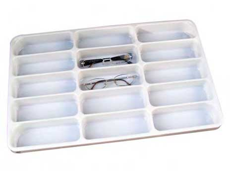 APTR.15L Plastic Open Eyewear Tray with 15 Frame Capacity