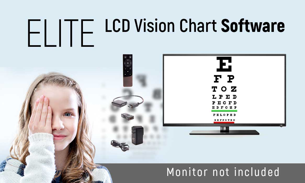 Elite LCD Vision Chart Software (Monitor not included)