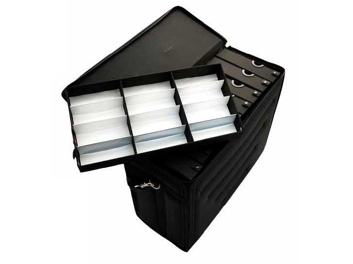 AC-401 Designer Eyewear Carrying Bag w/ Retractable Handle on Wheels